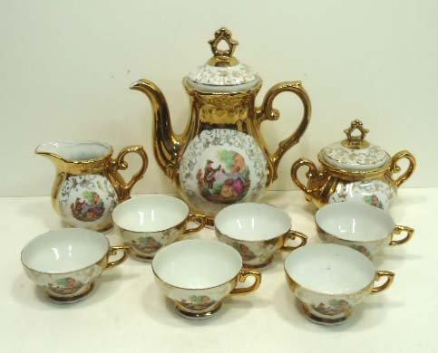 13: 9pc Porcelain Tea Set
