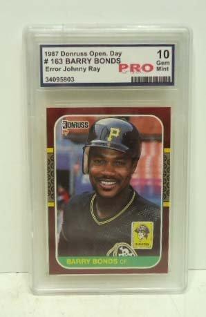 17: 1987 Donruss Barry Bonds Card