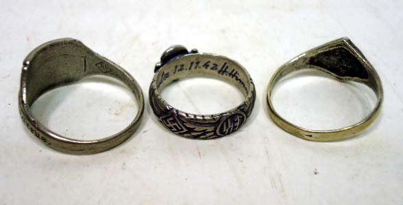 87: 3 German Nazi Rings - 2