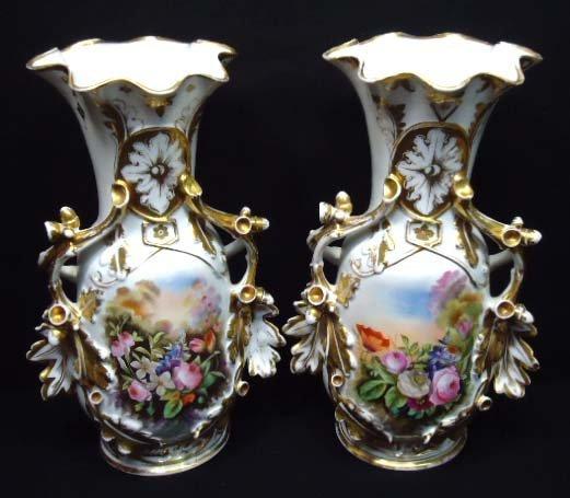 147: Great Pr Old Paris Mantle Vases
