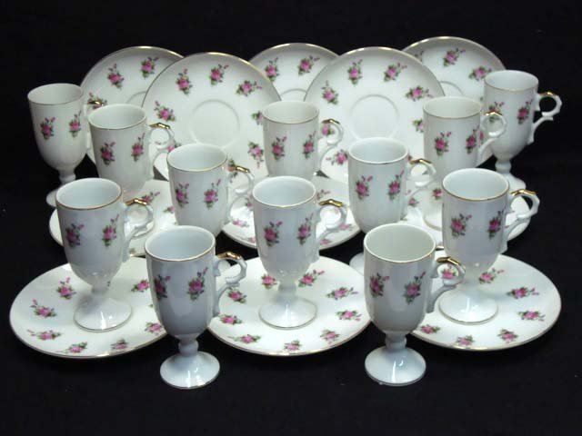 10: 23pc Demitasse Cups & Saucers