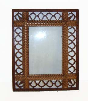 15A: Walnut Tramp Art Picture Frame