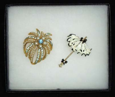 19: 2 Vtg. BSK Brooches