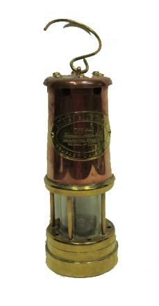 Early Brass & Copper Miner's Lantern