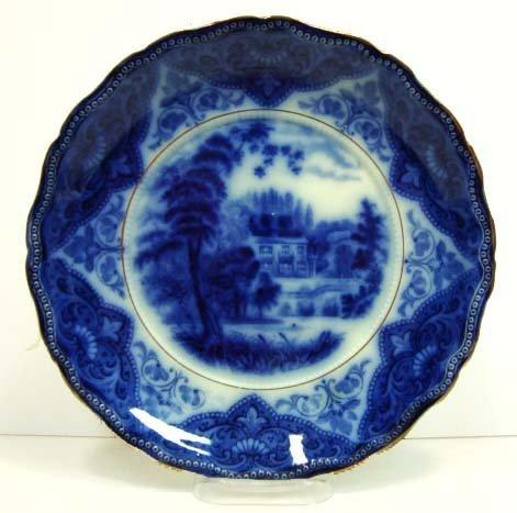 17: Flow Blue Plate