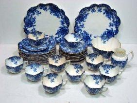 119: 36 Pc. Flow Blue Tea Set