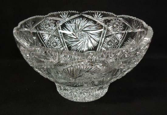 1: Cut Glass Punch Bowl