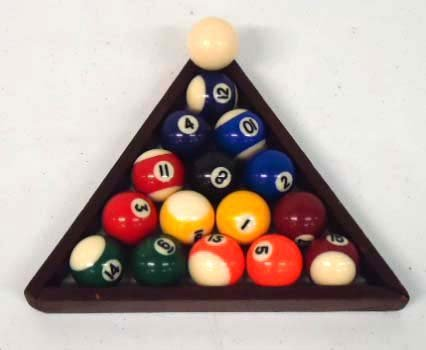 7: Set of Sm. Pool Balls & Rack