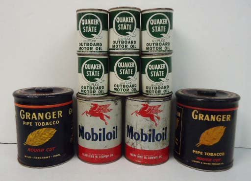 13: Lot of Tin Oil & Tobacco Tins