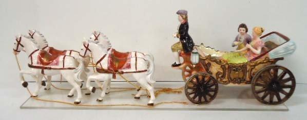 15: Porcelain Horse & Carriage Music Box