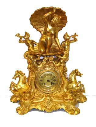 38C: Ornate Gold Fr. Clock