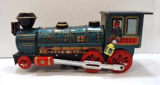 Tin Battery Operated Locomotive