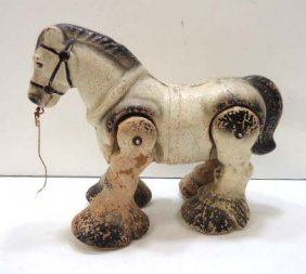 Composition Horse Pull Toy