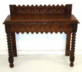Carved Oak Side Table/Server