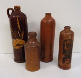 4- Stoneware Bottles