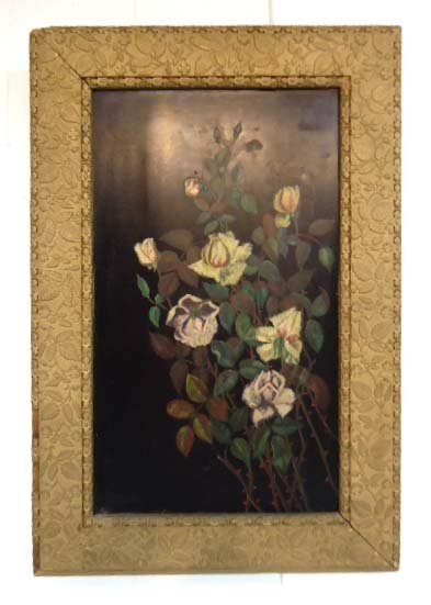 Vict. O/B Floral Still Life Painting