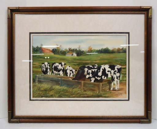 Watercolor Sgnd Judy Hartsfield 1990 - 2