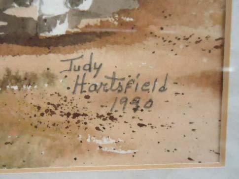 Watercolor Sgnd Judy Hartsfield 1990 - 3