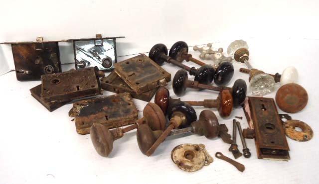 Lot Old Door Knobs & Locks