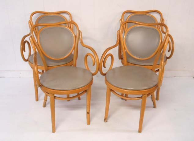 4 Bentwood Arm Chairs