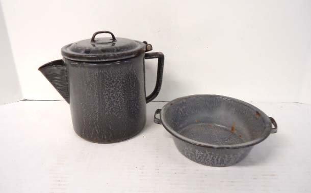 2 Pc. Coffee Pot & Bowl