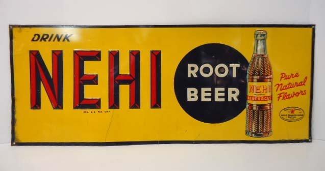 Tin Nehi Root Beer Adv. Sign