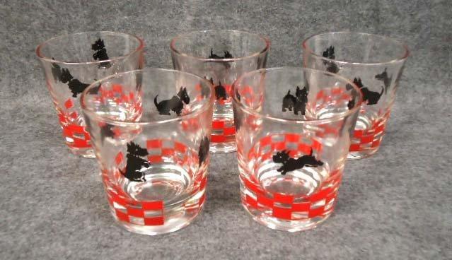 5 Scottie Dog Glasses