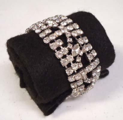 Quality, Unsigned Clear Rhinestone Bracelet