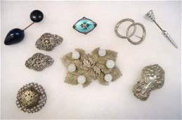 Victorian Art DecoArt Nouveau Jewelry 9pc