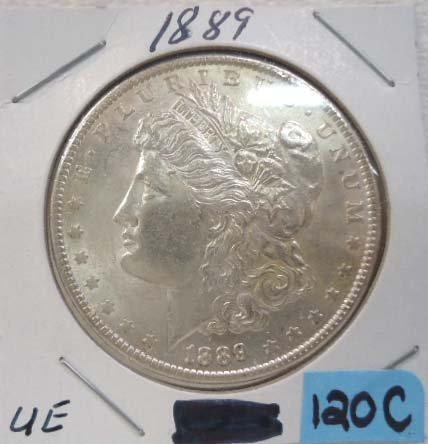 1889 Silver Dollar Unc.