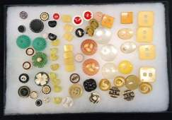 Large Celluloid Vintage Button Lot