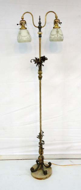 Ornate Double Floor Lamp