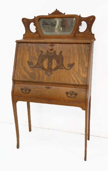 Oak Drop Front Desk