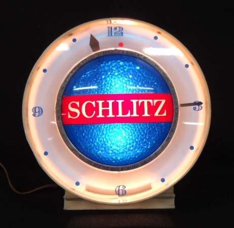 Schlitz Adv. Clock