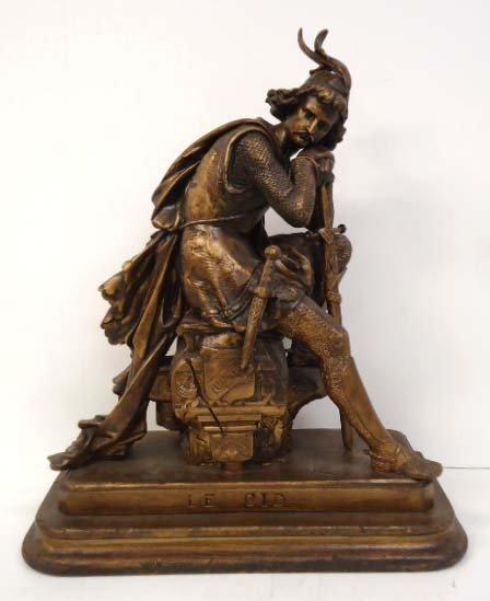 Lg. Spelter Statue EL Cid