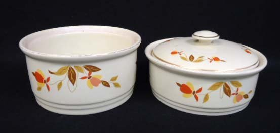 2pc Hall Jewel Tea Serving Dishes