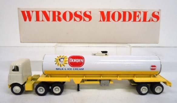 Winross Die Cast Borden Milk & Ice cream Tanker Truck