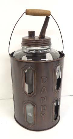 Glass & Metal Oil Can