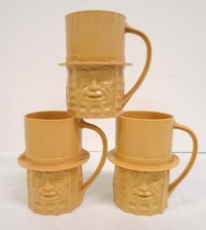 3 Mr. Peanut Mugs
