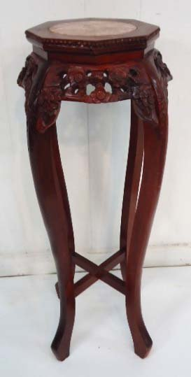 Carved Oriental Pedestal