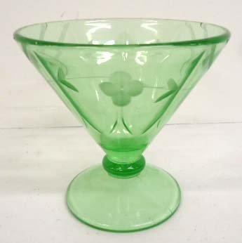 Gr. Compote w/ Cut Glass Design