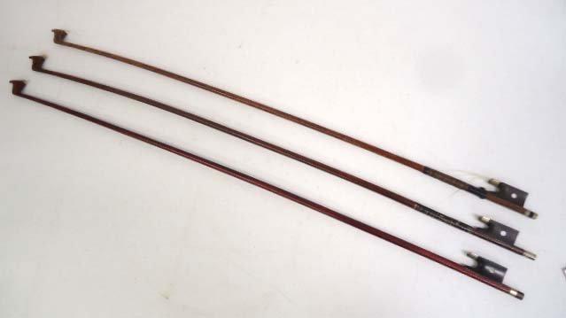 3 Old Wood Violin Bows