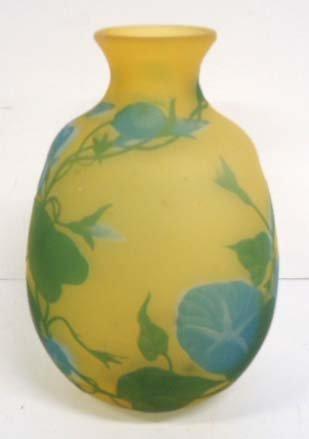 Cameo Cut Art Glass Vase