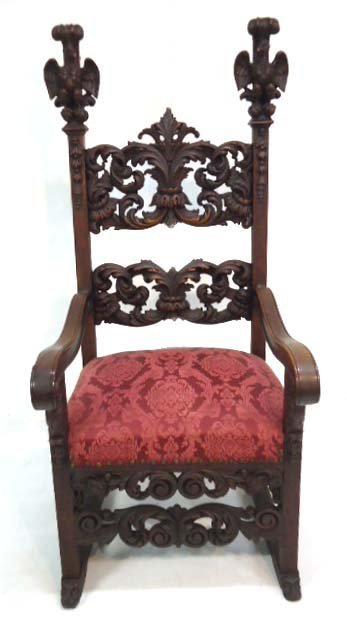 Carved to Death Eagle Chair