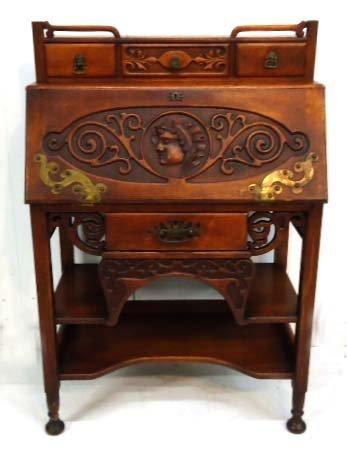 Carved Oak DF Desk