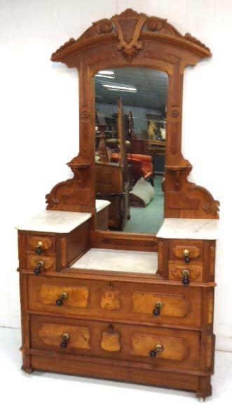M/T Vict. Walnut Dresser