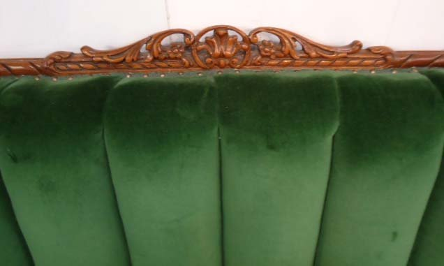 Carved Mohair Couch & Chair - 4
