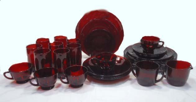 32pc Royal Ruby Dinnerware