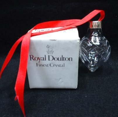Royal Doulton Crystal Christmas Ornament