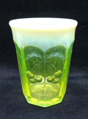 Vaseline Glass Tumbler